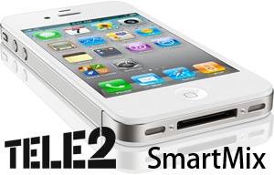 Goedkoopste iPhone 4S met Tele2 SmartMix abonnement kopen