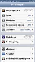 iPhone 5 instellingen overzicht