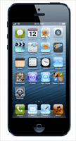 iPhone 5 zwart 16gb 200