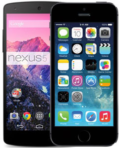 iPhone 5s vs LG Nexus 5