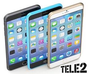 iPhone 6 met Tele2 aanbieidng in het zwart goud of wit