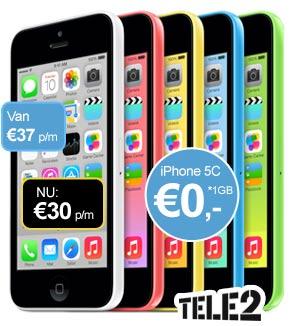 iPhone 5c tele2 aanbieding