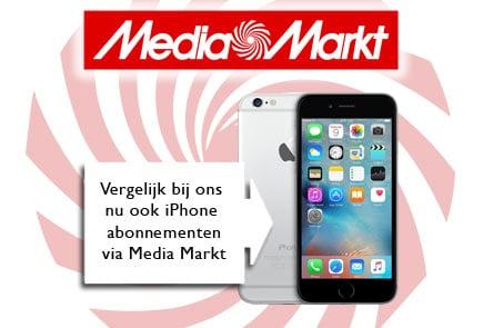 Vergelijk nu ook iPhone abonnementen aangeboden via Media Markt